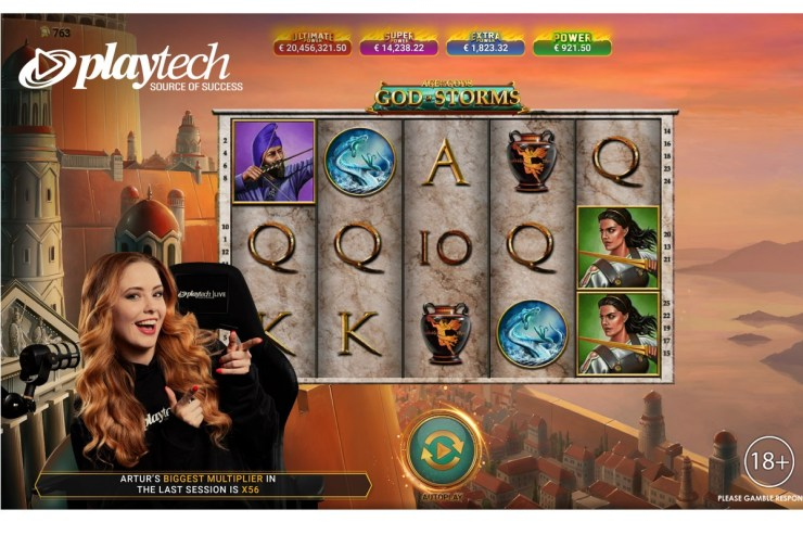 Playtech launches Age of the Gods: God of Storms Community Live Slots